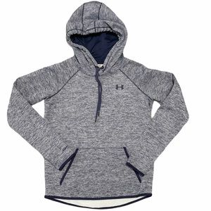 Under Armour Youth Heather Blue Pullover Hoodie